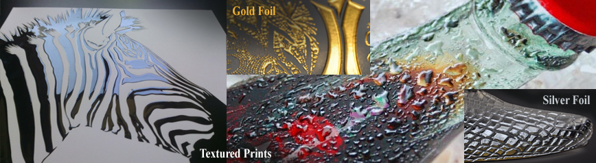 TEXTURED PRINTS / SPOT UV, GOLD FOIL, SILVER FOIL