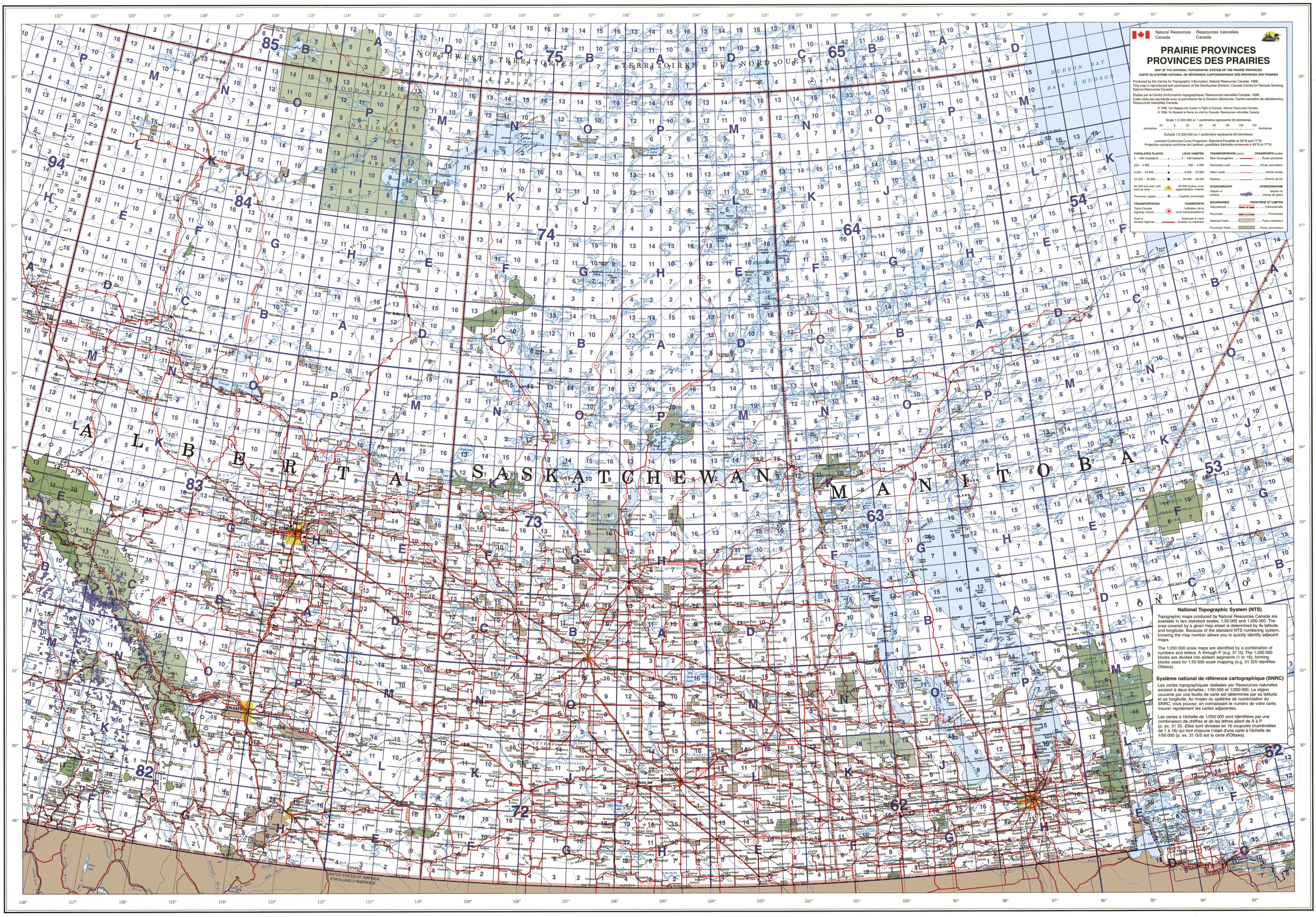 alberta saskatchewan manitoba topographic map index