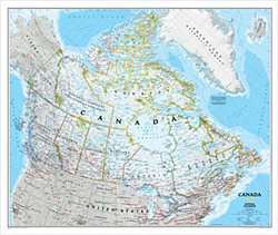 National Geographic - Canada Political Wall Map