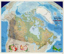 Digital Projections Digital Products - Relief map of canada